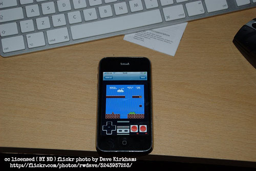 Mario emulator in iPhone
